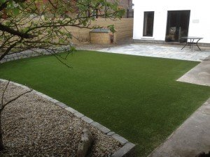 Artificial Grass Lawn and Patio