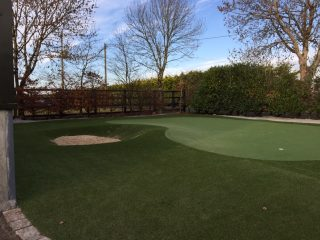Artificial Grass Puttting Green and Bunker