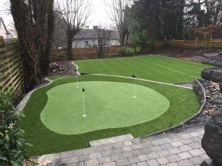 Artificial Grass Putting Green and Lawn