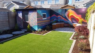 Artificial Grass Lawn + Paving-Galway