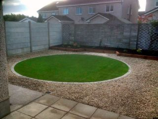 Artificial Grass Lawn and Gravel