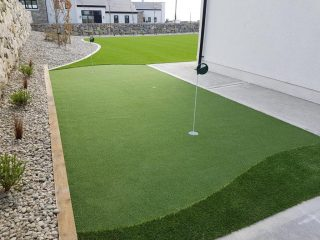 Artificial Grass Lawn + Putting Green-Galway
