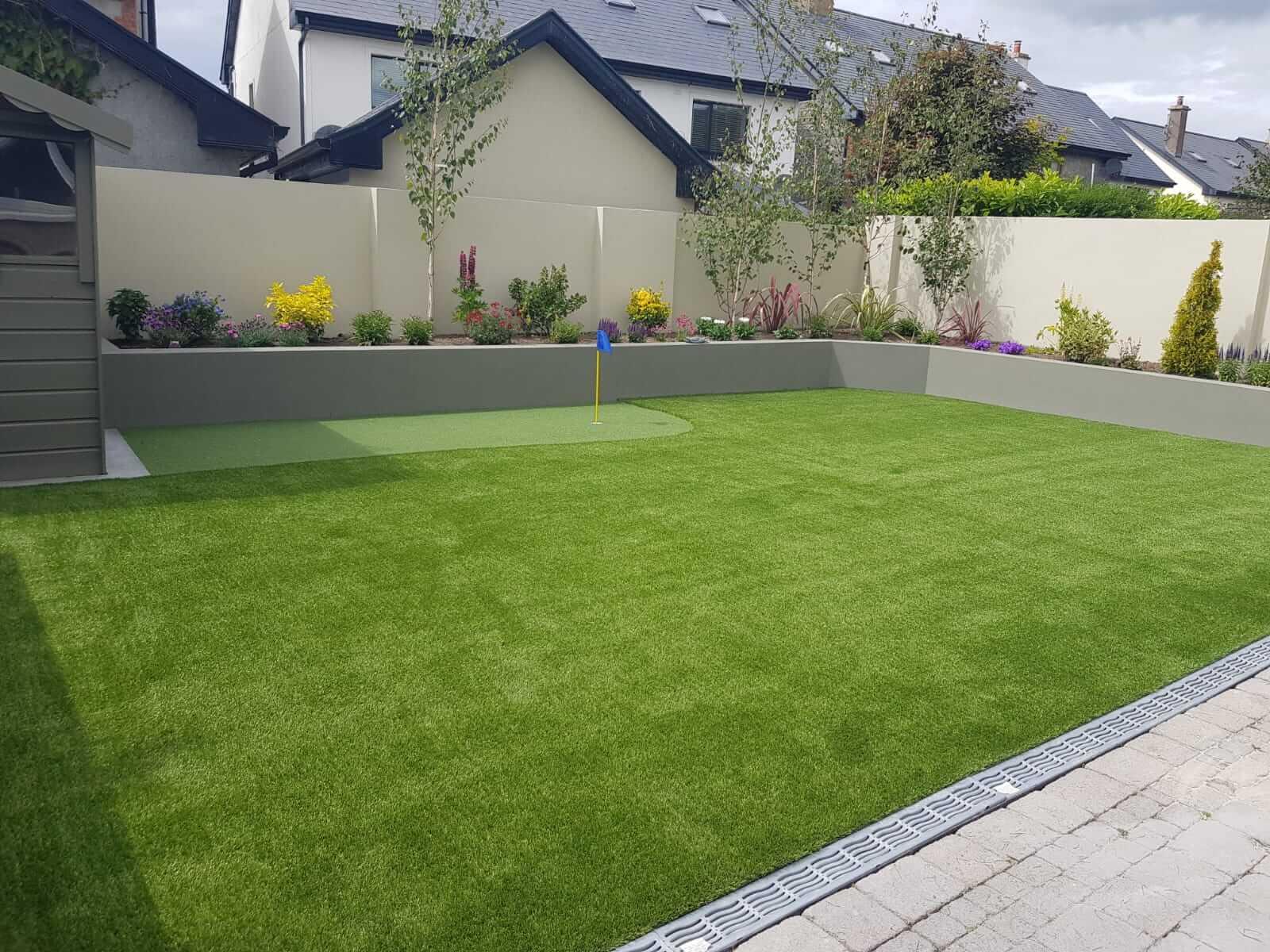Artificial Grass Lawn + Putting Green