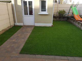 Artificial Grass & pathway