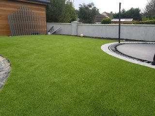 Artificial Grass Lawn + Trampoline