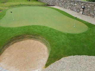 Revetted bunker & Artificial Grass Putting Green